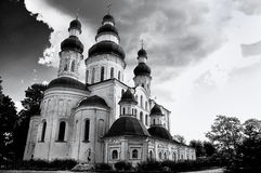 Catedral de Dormition (Uspensky) do monastério das mulheres de Eletsky em Chernihiv Fotografia de Stock Royalty Free
