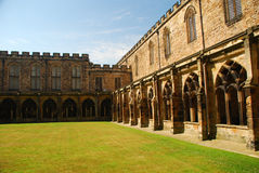 Catedral de Durham, claustro interno Imagen de archivo