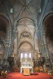 Catedral de Embrun, interior Fotos de archivo libres de regalías