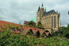 Catedral de Erfurt Foto de Stock Royalty Free