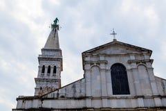 Catedral de Euphemia del santo en Rovinj Foto de archivo libre de regalías