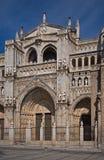 catedral de facade fördärvar primadaen santa toledo Arkivbild