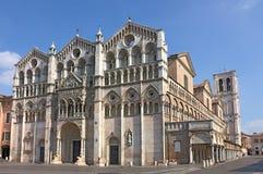 Catedral de Ferrara Fotos de archivo libres de regalías