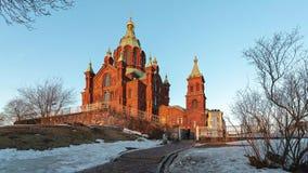 Catedral de Finlandia Uspenski, Helsinki Finlandia almacen de video