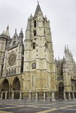 Catedral de gammala leon Fotografering för Bildbyråer