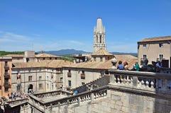 Catedral de Gerona Imágenes de archivo libres de regalías