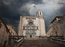Catedral de Gerona. Spain. Stock Images