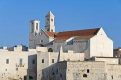 Catedral de Giovinazzo. Apulia. Foto de Stock Royalty Free