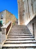 Catedral de Giovinazzo da escadaria. Apulia. Fotos de Stock