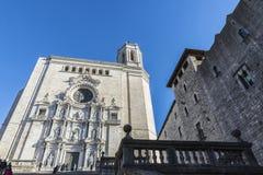 Catedral de Girona, España Foto de archivo