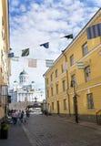 Catedral de Helsínquia no dia de verão ensolarado fotos de stock royalty free