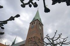 Catedral de Helsingør foto de stock royalty free