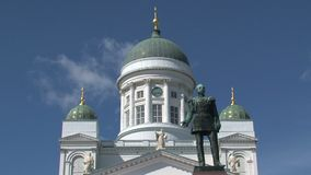 Catedral de Helsinki en Finlandia almacen de video