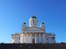 Catedral de Helsinki en la luz de la tarde del verano Fotos de archivo