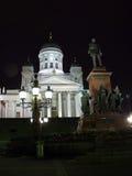 Catedral de Helsinki en la noche Fotografía de archivo