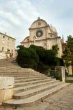 Catedral de ?ibenik Imagen de archivo libre de regalías