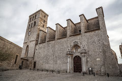 Catedral de Ibiza fotos de archivo libres de regalías