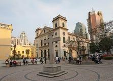 Catedral de Igreja a Dinamarca Sé (igreja da natividade de nossa senhora) em Macau Imagens de Stock Royalty Free