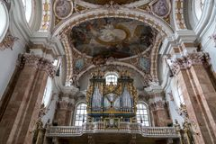 Catedral de Innsbruck, Áustria fotografia de stock