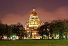 Catedral de Isaac de Saint em St Petersburg Fotografia de Stock