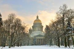 A catedral de Isaac de Saint, St Petersburg, Rússia Fotografia de Stock