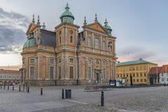 Catedral de Kalmar em Smaland Imagens de Stock