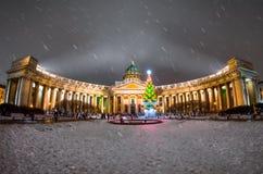 Catedral de Kazán del Año Nuevo en St Petersburg Foto de archivo