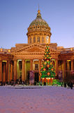 Catedral de Kazan dentro em Petersburgo, Rússia Foto de Stock