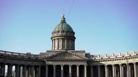 Catedral de Kazan em St Petersburg, Rússia filme
