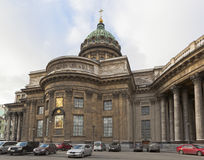 Catedral de Kazan em St Petersburg, Rússia fotos de stock