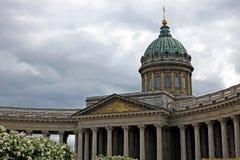 Catedral de Kazan em St Petersburg, Rússia Imagem de Stock