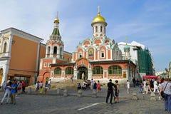 Catedral de Kazan no canto do quadrado vermelho Igreja ortodoxa, em Moscou, Rússia Imagem de Stock