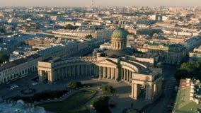 Catedral de Kazansky em St Petersburg filme