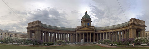 Catedral de Kazansky, St Petersburg, Rússia Fotografia de Stock