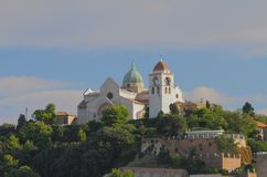 Catedral de Kiriak del santo Ancona, Italia fotos de archivo