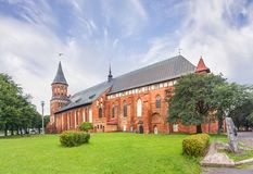 Catedral de Koenigsberg Kaliningrad, Rússia fotos de stock