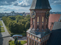 Catedral de Konigsberg Kaliningrad, anteriormente Koenigsberg, Rússia fotografia de stock royalty free