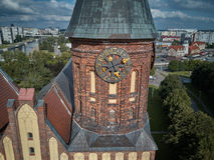 Catedral de Konigsberg Kaliningrad, anteriormente Koenigsberg, Rússia fotos de stock royalty free