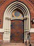Catedral de Kotka de las puertas. Finlandia Fotos de archivo