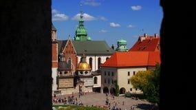 Catedral de Kraków Imágenes de archivo libres de regalías
