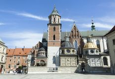 Catedral de Kraków Wawel fotos de archivo libres de regalías
