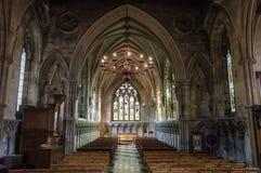Catedral de la abadía del St Albans Normando, gótico fotos de archivo libres de regalías