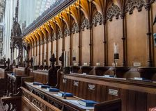 Catedral de la abadía del St Albans Normando, gótico imagenes de archivo