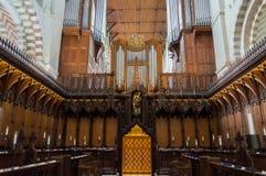 Catedral de la abadía del St Albans Normando, gótico fotos de archivo