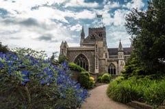 Catedral de la abadía del St Albans Normando, gótico fotografía de archivo