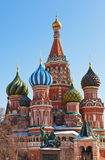 Catedral de la albahaca del santo en el cuadrado rojo, Moscú Imagen de archivo