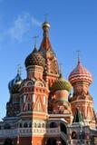 Catedral de la albahaca del santo en Moscú Foto de archivo