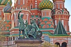 Catedral de la albahaca del santo en Moscú Fotografía de archivo