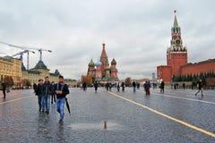 Catedral de la albahaca del santo en Moscú, Rusia Fotos de archivo libres de regalías