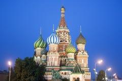 Catedral de la albahaca del santo, Moscú Foto de archivo